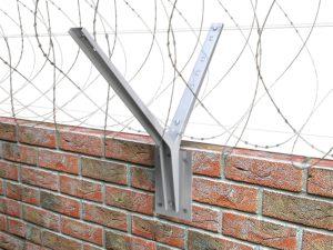 Козырьковые заграждения (КЗР) для бетонных или кирпичных заграждений