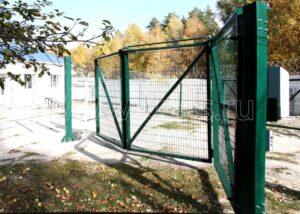 Ворота складные из трех полустворок 6 м
