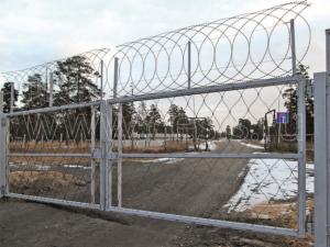 Распашные ворота для заграждения ПКЗ