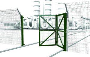 Скоростные складные одностворчатые ворота