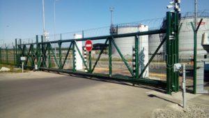 Ворота откатные консольного типа 9, 12 метровые
